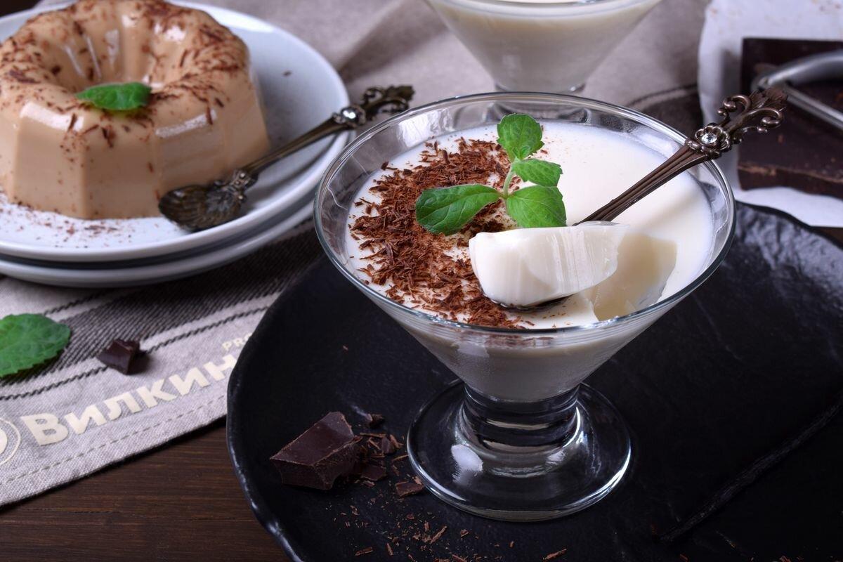 Вкусный десерт: молочное желе (похож на панна-котту)