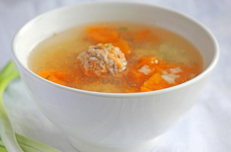 Тыквенный суп с рисом и фрикадельками