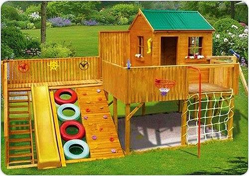 Построить детский домик на даче своими руками чертеж