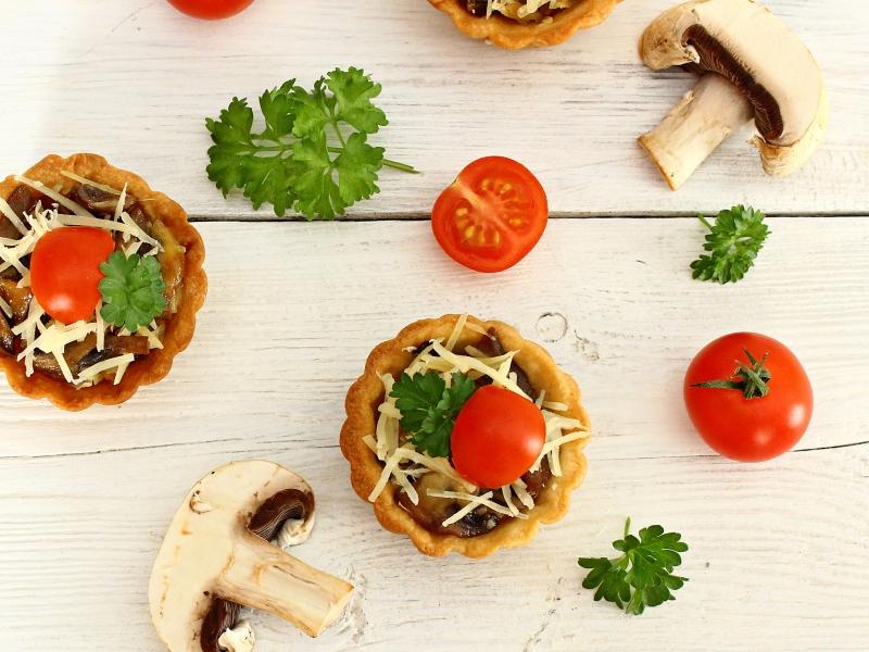 ЗАКУСОЧНЫЙ ДЕНЬ. Тарталетки с грибами и сыром