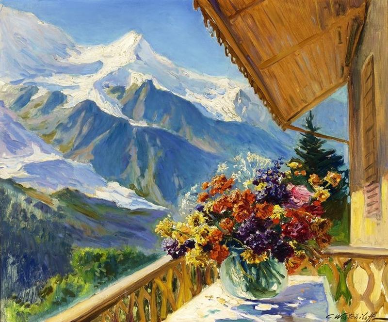 Природа хороша и летом, и зимой... Художник Константин Вещилов (1878-1945)