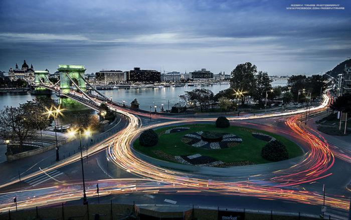 Вид на Цепной мост Сеченьи. Автор фото: Tamas Rizsavi.