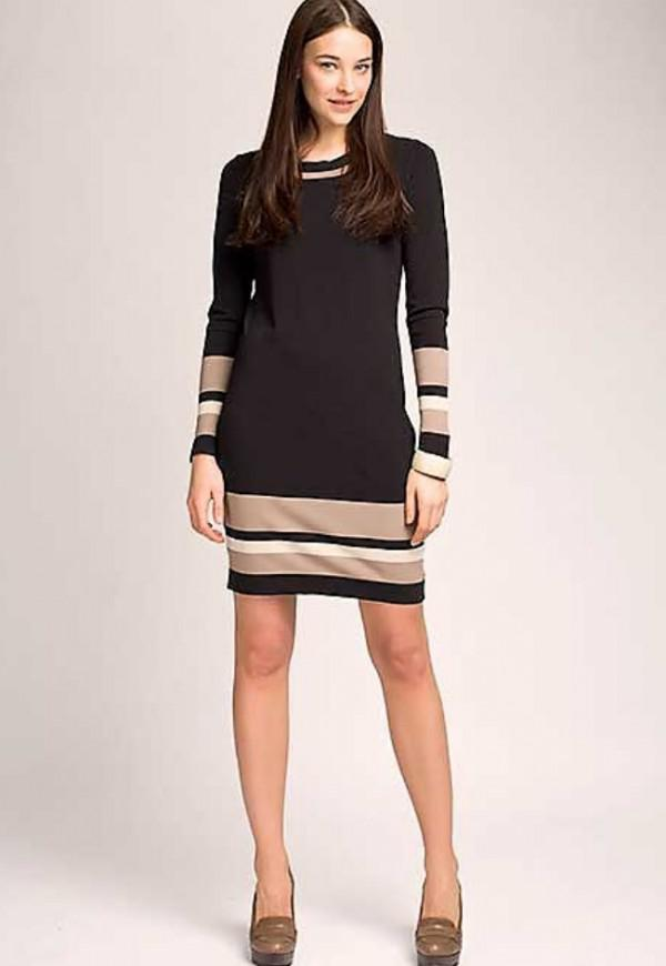 платье удлиненное вставками из другой ткани