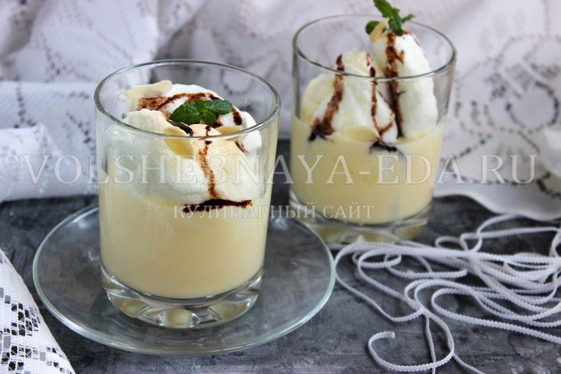 Десерт «Плавучий остров»