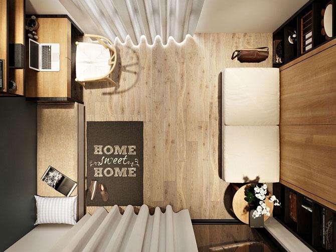 5 очень маленьких, но уютных и стильных спален