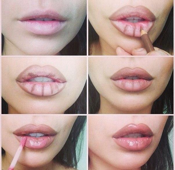 Как изменить форму губ с помощью макияжа