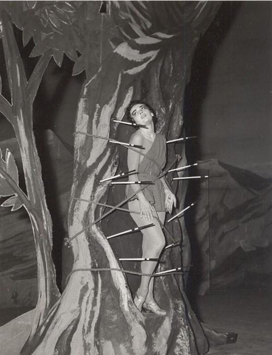 1960. Балет С.Лифаря «Мученичество Святого Себастьяна» (музыка Дебюсси).