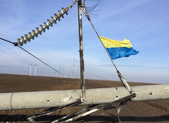 Подорвана опора в украине
