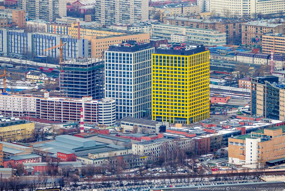 Какие-то новые офисы на Новодмитровской.