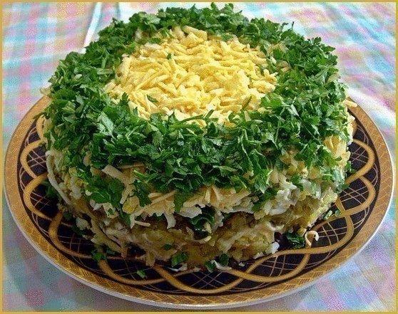 10 салатов с грибами