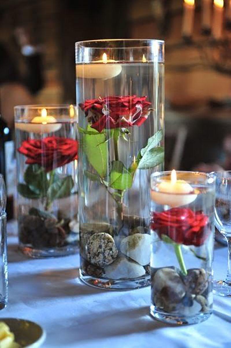 Завораживающие цветочные композиции в стекле