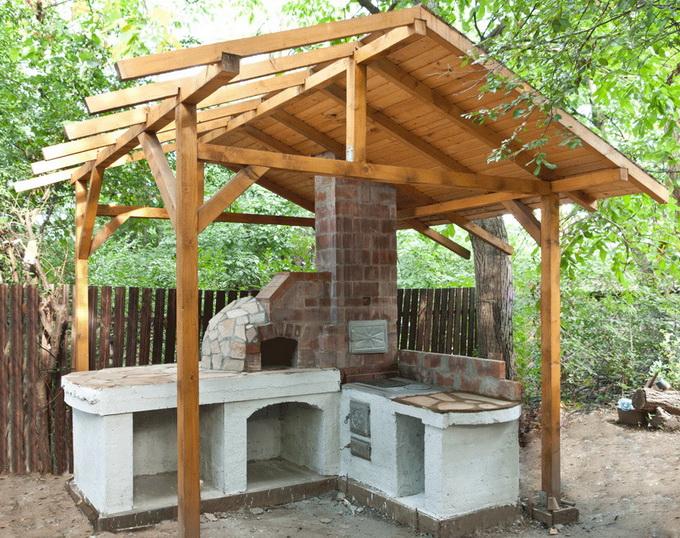 Летняя кухня своими руками очень простая конструкция 70