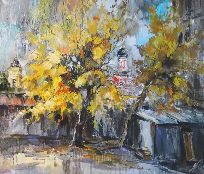 Чарина Анна. Осенний двор в Кисловском переуке