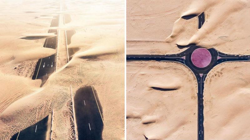 Как пустыня поглощает Дубай и Абу-Даби