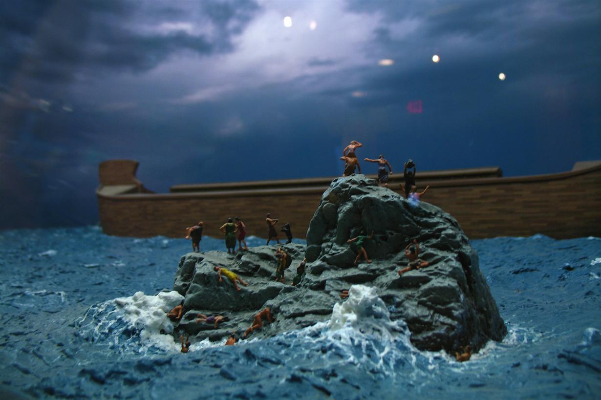 Сцена на тему «Всемирный потоп» в Музее сотворения мира. (Alex Leung)