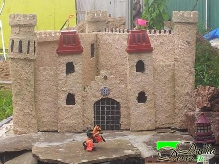 Мастер класс замок из щебенки