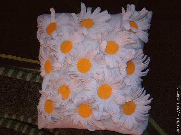 Подушка своими руками «Ромашковая полянка»