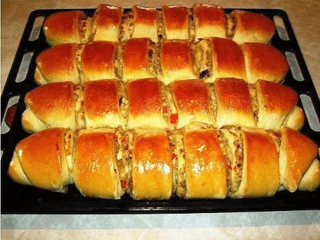 >Пироги с капустой и печенью