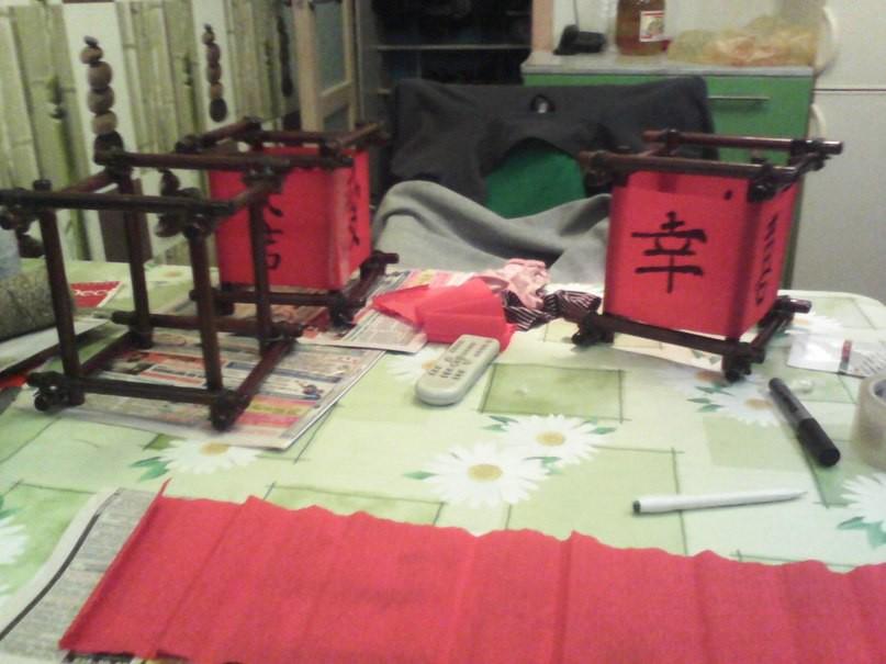 Делаю стилизованные фонарики,которые подвешу прямо на споты. ремонт, рукожопие, японский стиль
