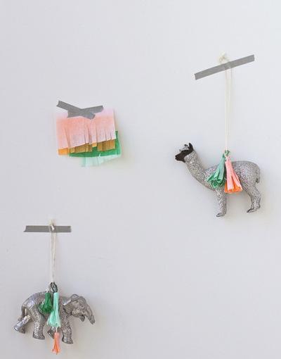 Glitter Tassel Animal Ornaments