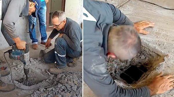 Люди услышали что под землей кто-то плачет и настояли, чтобы сотрудники вскрыли бетонный пол ... Этим они спасли много жизней!