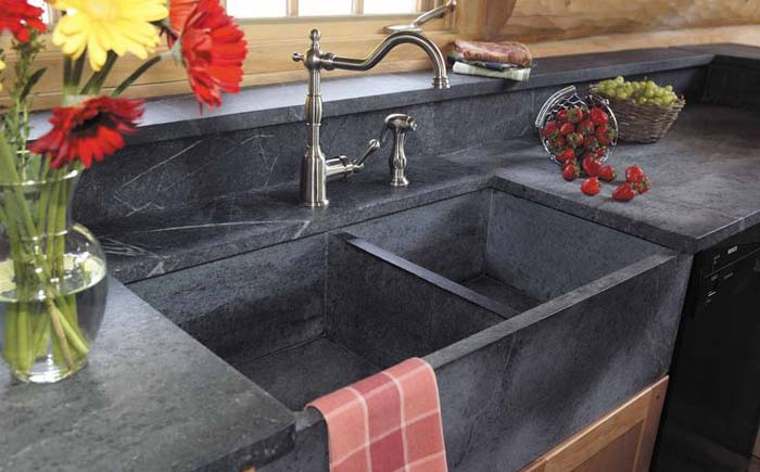 Столешницы из стеатита – новые возможности для модернизации кухни