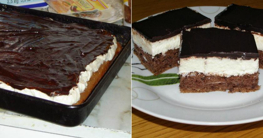 Шоколадный бисквитный торт н…