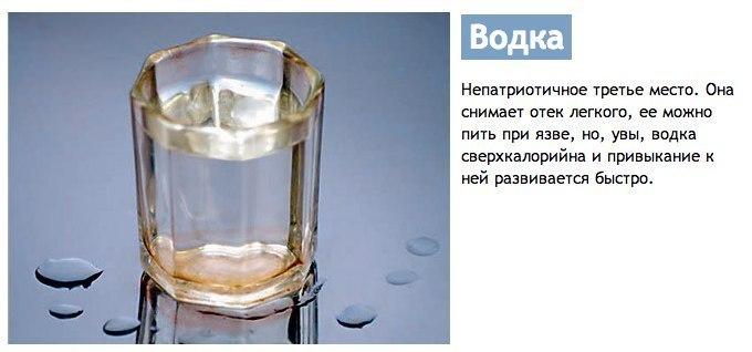Чем можно запивать водку