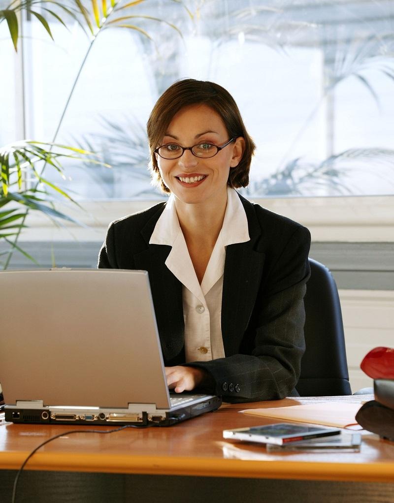 работающая женщина