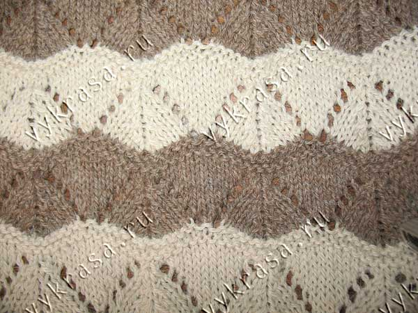 Фото узора для вязания: треугольники