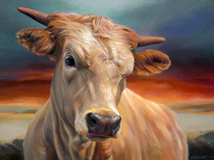 Чудо как хороши! Коровки и быки от художницы Teresa Elliott