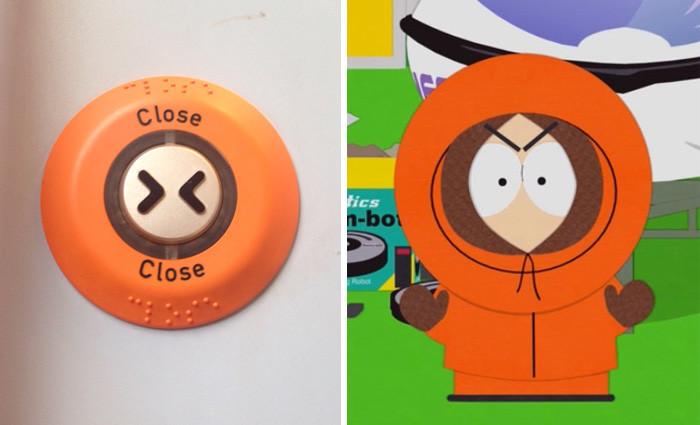 15. Эта кнопка выглядит как Злой Кенни вещи, люди, похожие лица, схожесть