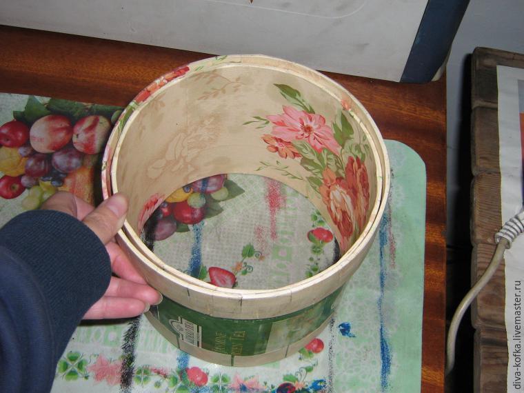 Круглая коробка своими руками фото