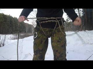 Как можно сделать альпинистскую обвязку из обычной веревки, которая может понадобиться для спуска или подъема