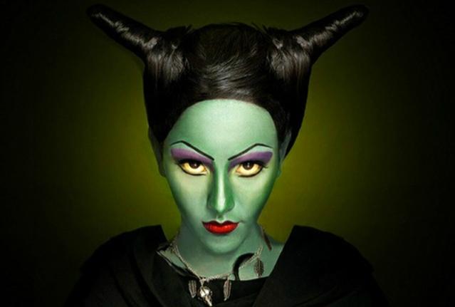 Костюм ведьмы на Хэллоуин своими руками - макияж ведьмы