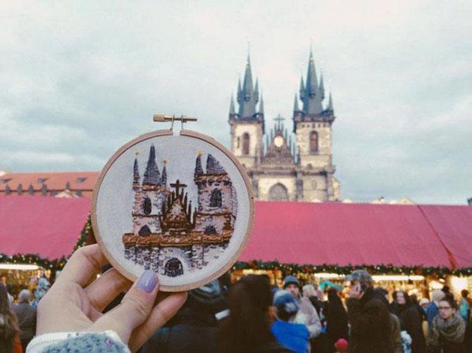 Вышивки своих путешествий вместо фотографий