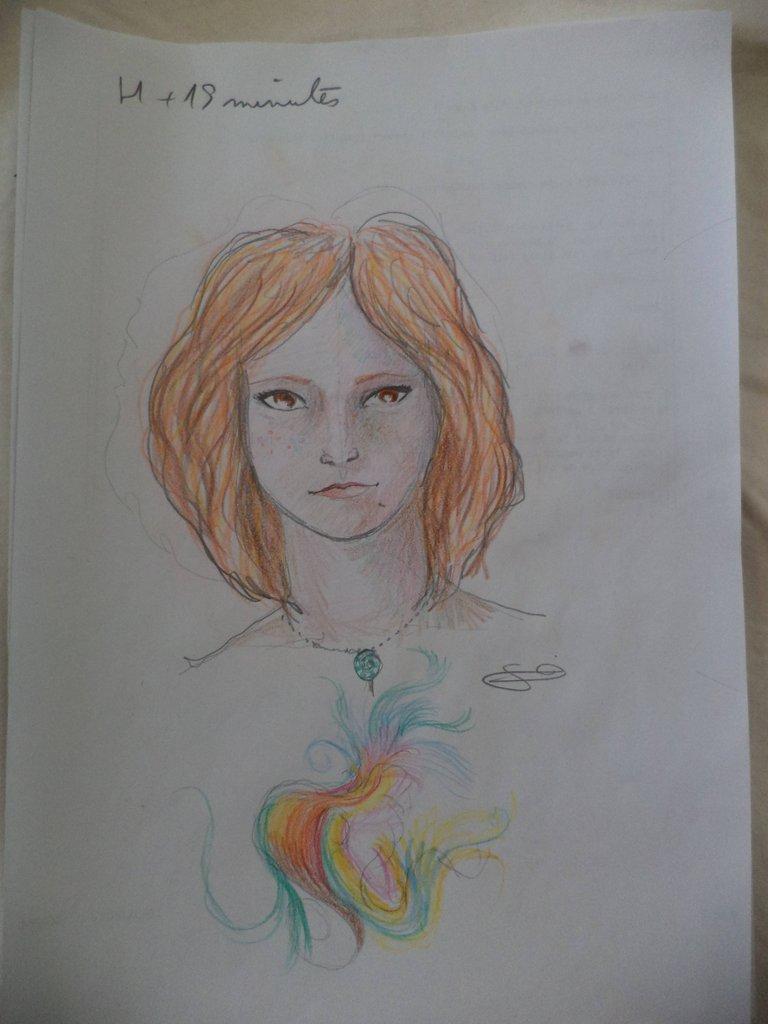 Художник принял ЛСД и рисует девушку напротив. Как изменяются его рисунки