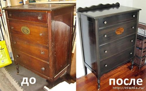 Как отреставрировать старую лакированную советскую мебель
