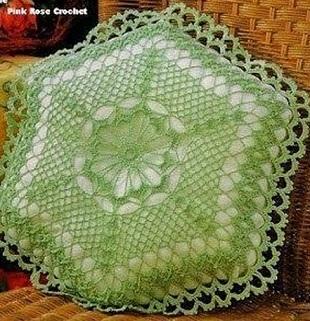 Схема вязания подушки крючком