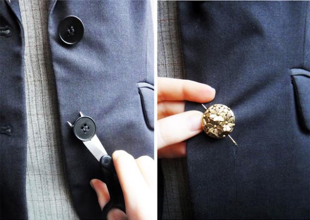 Украшать пиджак своими руками