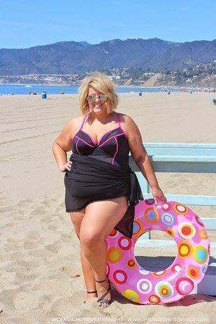 Джессика Кейн,Jessica Kane, фото полной девушки в купальнике, девушка размера плюс в купальнике