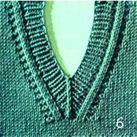 Вязание V-образной горловины