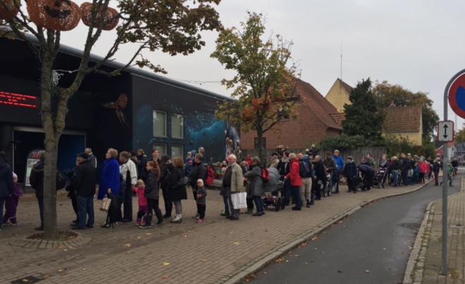 У датского зоопарка перед вскрытием льва скопилась очередь посетителей
