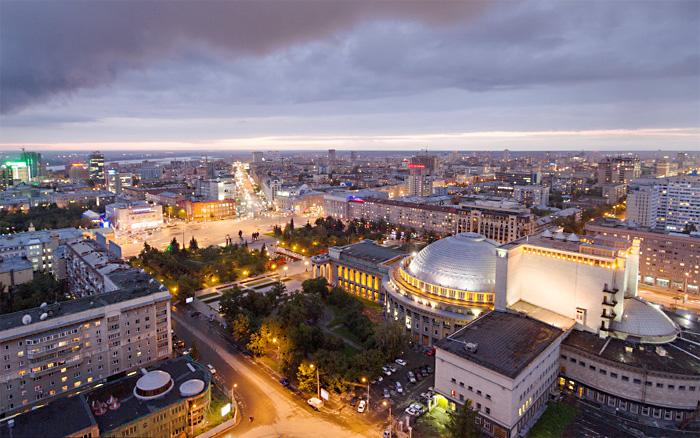 Город Новосибирск на потрясающем таймлапс видео