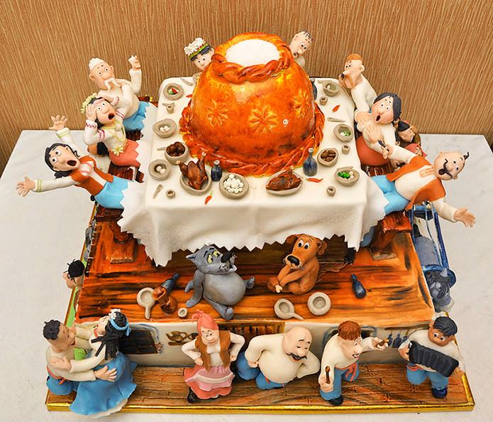 Торт по сюжету мультфильма «Жил-был пес» в мире, скульптура