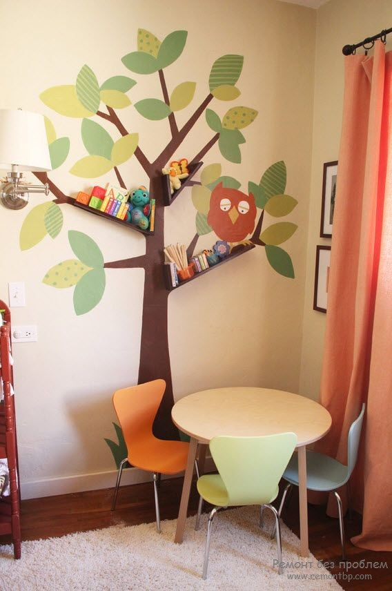 Дерево на стене в детском саду своими руками