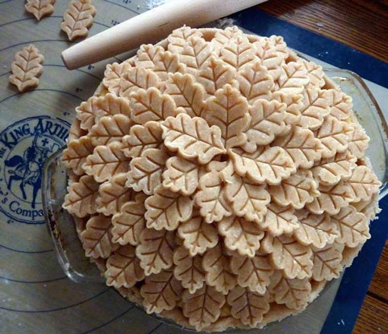 """Маленький хорошенький пирог """"Осенние листья"""" выпечка, красивая еда, кулинария, пироги"""