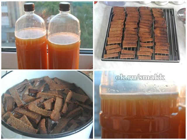 Как приготовить квас из бородинского хлеба с дрожжами