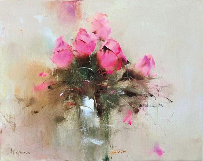 Невесомая нежность лепестков  —  мелодия пастельных красок в творчестве Виталия Трубанова