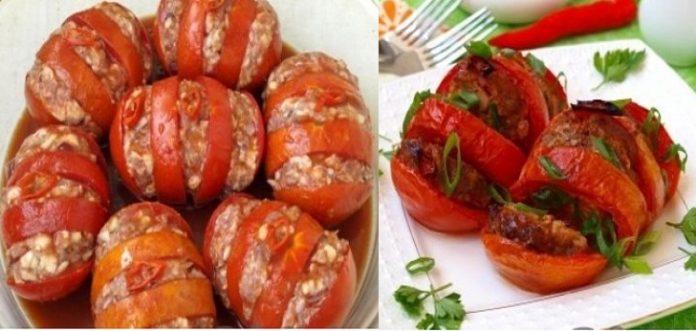 Запечённые помидоры с мясом. Берите помидорки поспелее и наслаждайтесь каждым кусочком